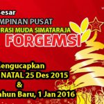 FORGEMSI Pusat mengucapkan Selamat Natal 2015 dan Tahun Baru 2016