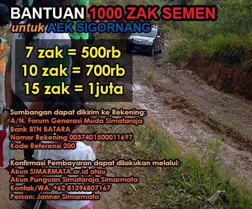 1000 Sak Semen Untuk Aek Sigornang