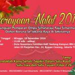 Perayaan Natal 2016 Punguan Simataraja Jakarta