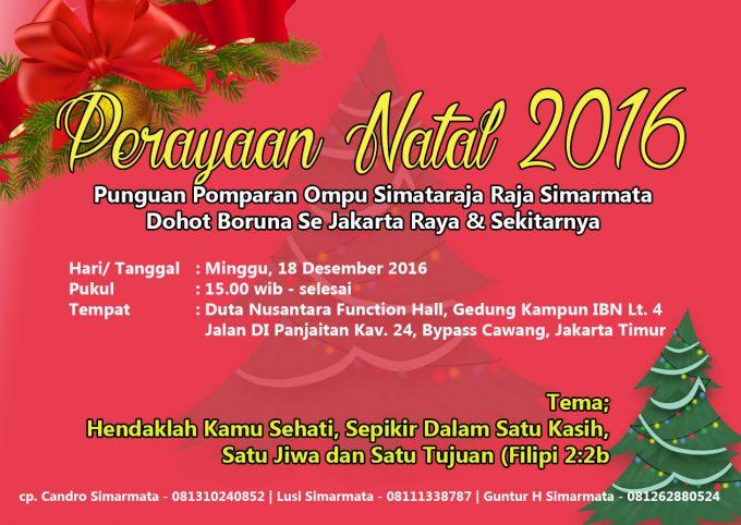 Naposo Simarmata Se Jabodetabek: Ajak Berperan Aktif Untuk Perayaan Natal di Jakarta