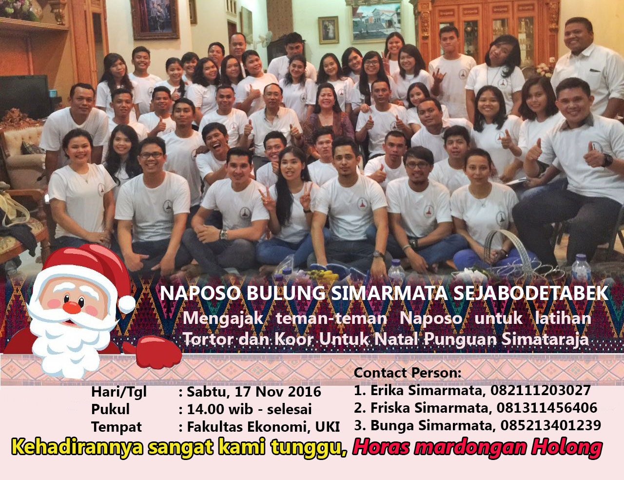 Latihan Tortor dan Koor Secara Rutin, Naposo Sejabodetabek Siap Meriahkan Natal