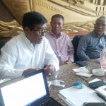 Rickson Simarmata inisiator dan pendiri Forgemsi (baju putih) di damping Tumpal Simarmata Ketua Bidang Kepemudaan dan Pendidikan DPP Punguan Simataraja Indonesia (baju biru)