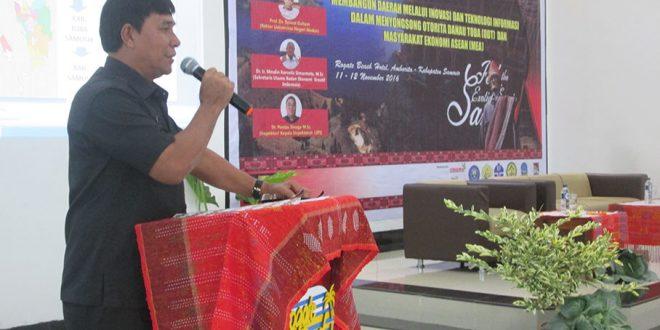 Wakil Bupati Samosir Juang Sinaga Buka Seminar Forum IHAN BATAK