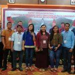 Janner Raja Simarmata didampingi Sekjen FORGEMSI Gidion Manik, Ketua Naposo DKI Samuel Simarmata dan Ketua Naposo Bandung Togardi Simarmata