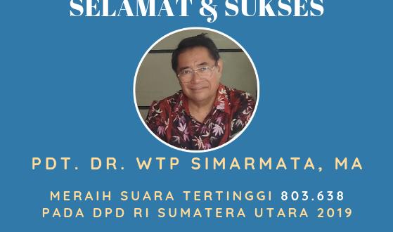 Pleno Diketok, WTP Simarmata Meraih Suara Tertinggi untuk DPD RI Sumut